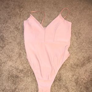 Missguided pink bodysuit